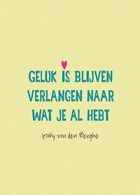 Geluk is blijven verlangen naar wat je al hebt - Gaby van den Berghe - Inspire - Marloes Gersen
