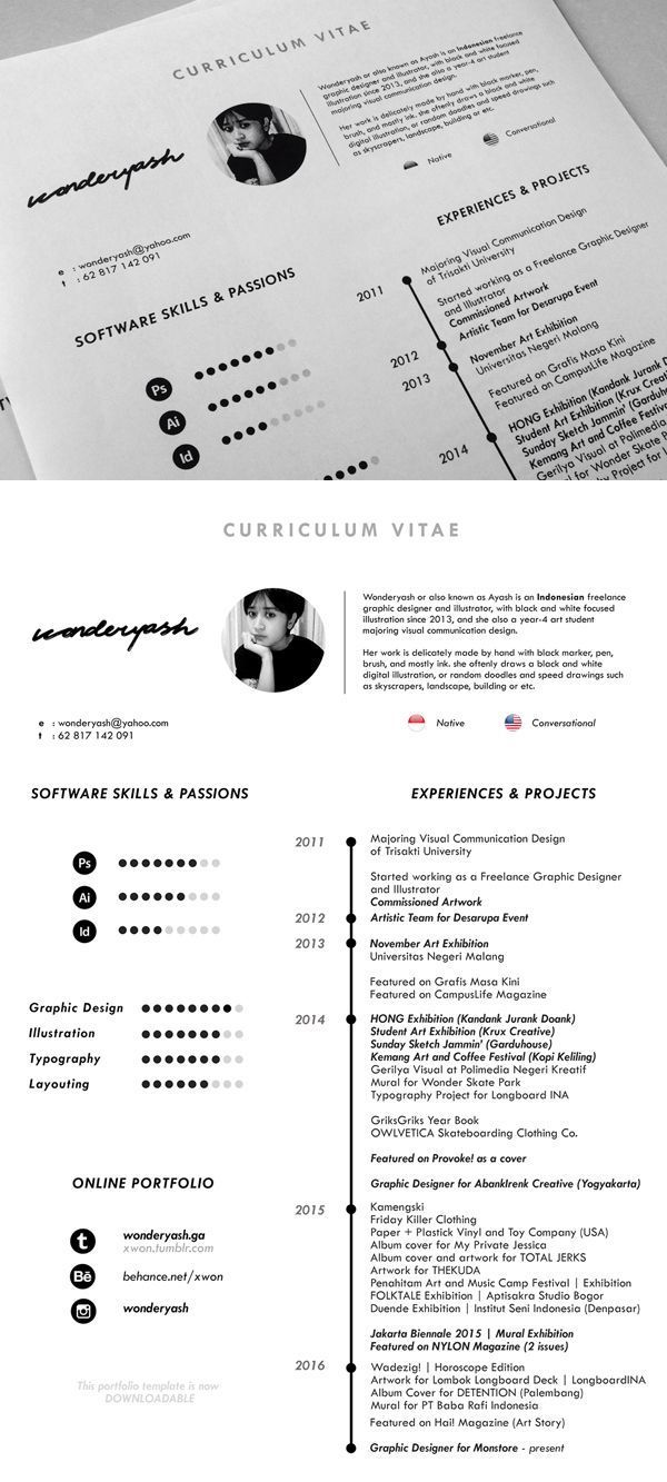 Free Minimalistic Cv Resume Templates With Cover Letter Template 10 Cv Graphiste Cv Graphique Exemple Cv