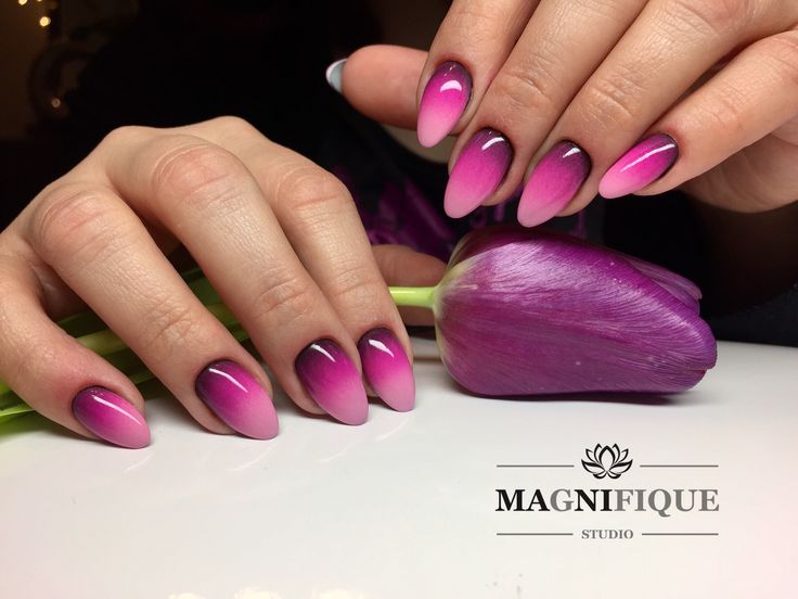Ombre nails Pink Gel Nails