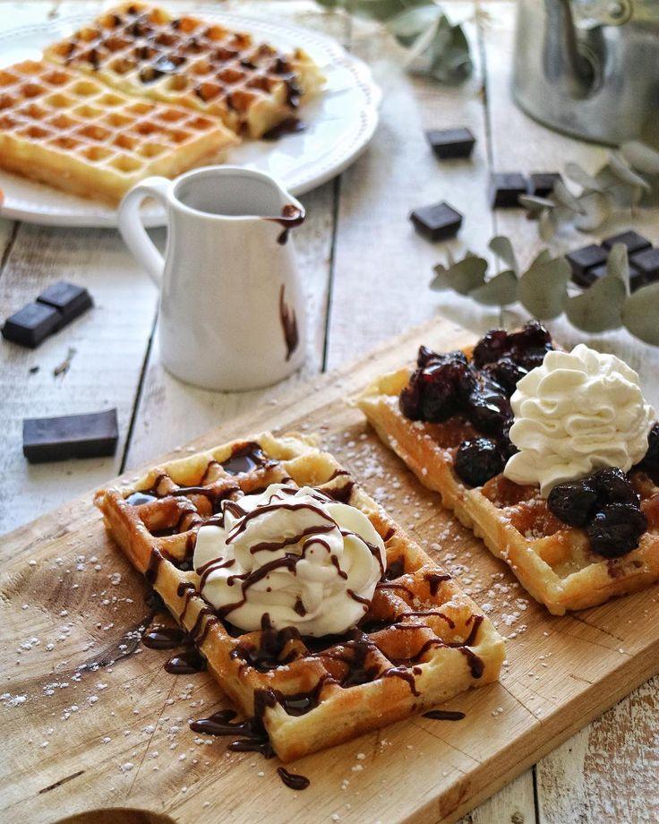 Gofres de Bruselas / Brussels waffles / Gofres Belgas / Belgium waffles