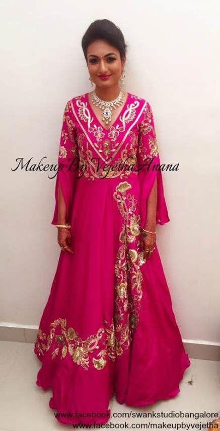 68+ trendy indian bridal makeup pink jewellery