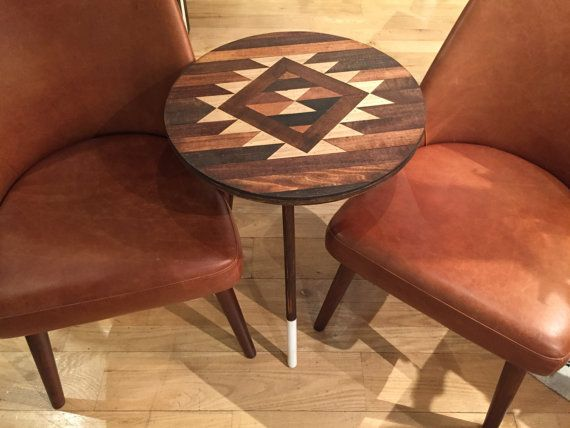 SIDE TABLE Dipped Leg Navajo Aztec Native Boho by KnotAndSteelCo Home & Living  Furniture  Living Room Furniture  Coffee & End Tables  Navajo  Pendleton  Distressed Restoration Hardware  West Elm  Aztec  Mid Century  Native American  Log Cabin  Southwestern  BOHO  Mid-Century