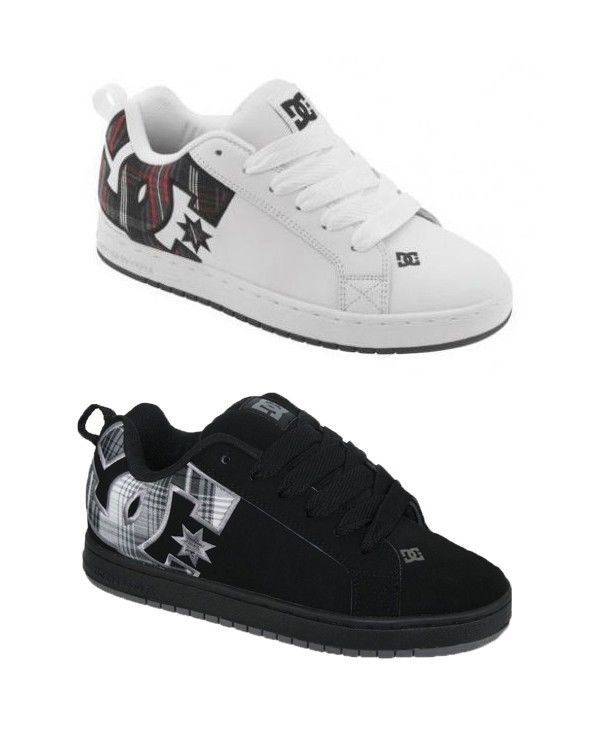 DC SHOES Court Graffik SE Skate Shoes Sneakers Model 300927 Plaid Logo NWT