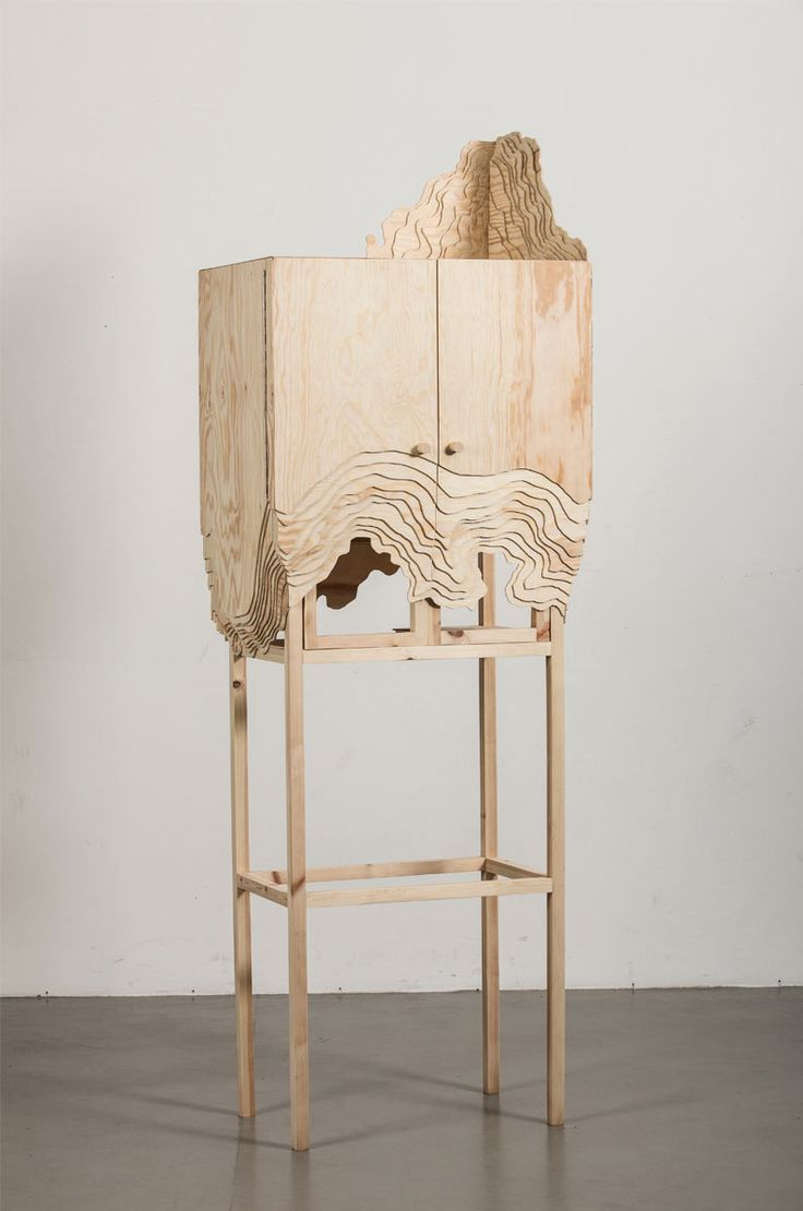 unique wood furniture designs. furniture erosion nate cabinet by lisa berkert wallard unique wood designs