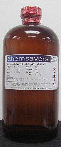 #wow #Petroleum Ether (Ligroin), ACS, 35-60°C, 1L (32oz) For Research & Development Not for drug, clinical use in humans, for food or food additive use Specifica...