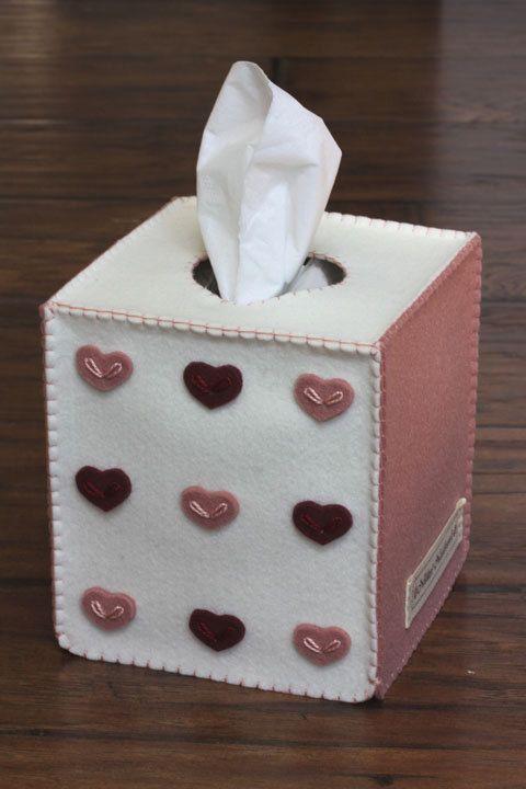 Nikkie's Felt Heart Tissue Box Cover-Indian by NikkiesNeedlework