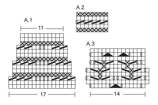 """Sofia / DROPS 146-36 - Kootud DROPSi pitsmustriga põlvikud """"Fabel""""lõngast. Suurused 35 – 43.  - Free pattern by DROPS Design"""