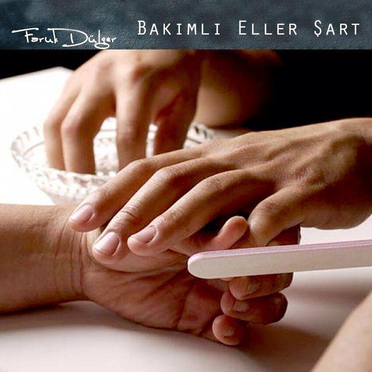"""İlk nereye bakarsınız sorusuna verilen cevap """"Eller"""" oluyor..!  Bakımlı erkeklerin adresi Salon Faruk Dülger..  #erkekkuaförü #berber #manikür #el #bursa"""