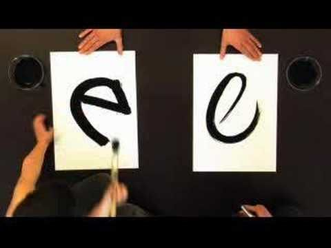 """""""abcdefghijklmnopqrstuvwxyz""""  so cool!!  A video of two people drawing the alphabet."""