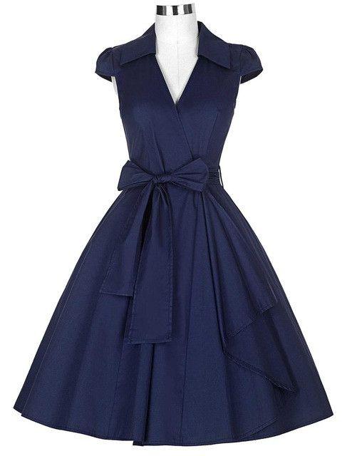 Belle Poque Dresses Cap Sleeve Turn-Down Collar V-Neck Burgundy Office Dress Casual Tunic 1950s Rockabilly Swing Summer Dress