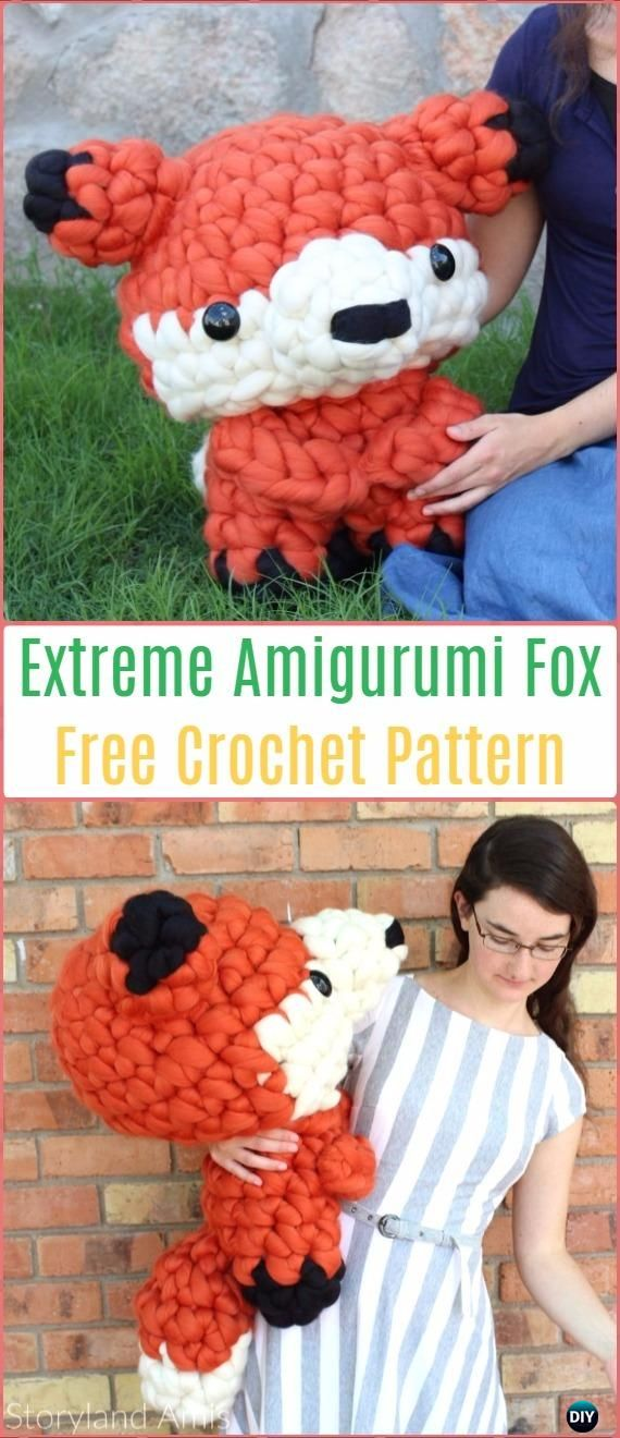 Extreme Amigurumi Fox Free Pattern - Crochet Amigurumi Fox Free Patterns
