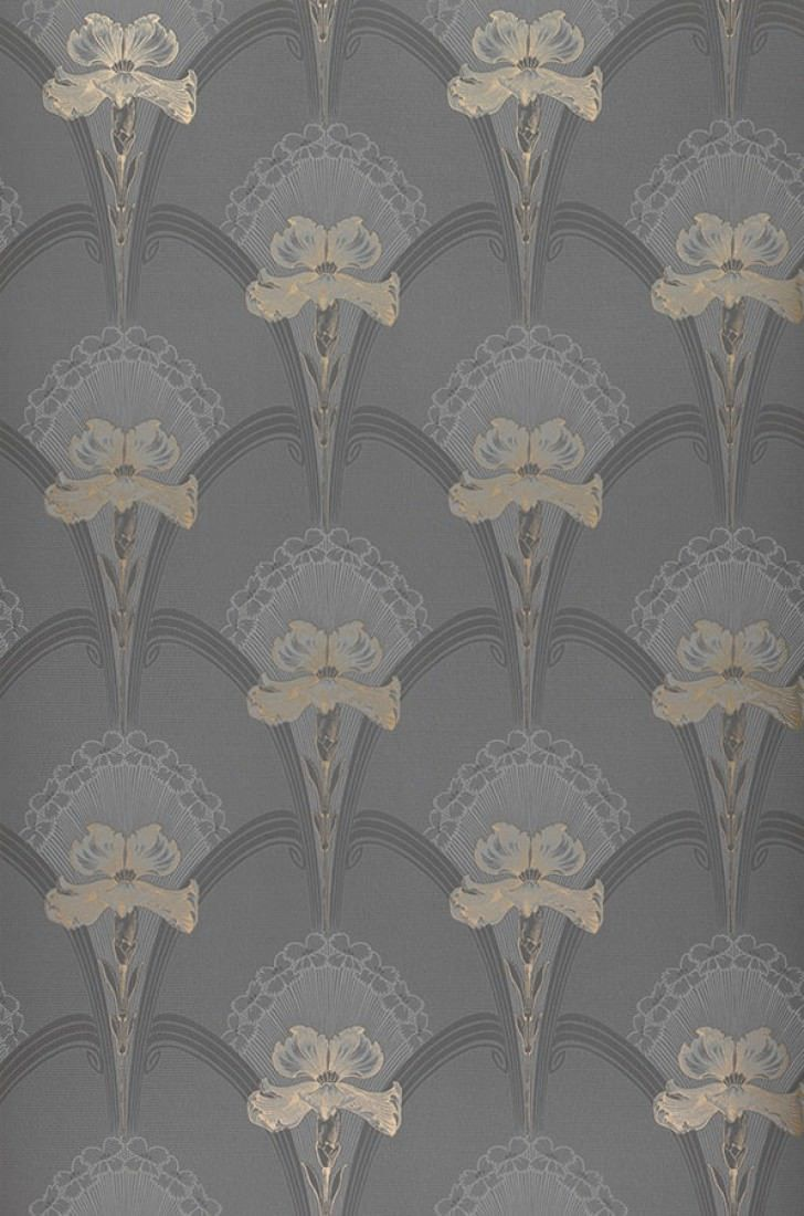 Papier Peint Liandra Papier Peint Des Annees 70 Art Deco Wallpaper Wallpaper Grey Art