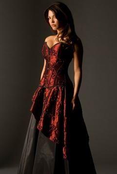 Best 25  Red corset dress ideas on Pinterest | Red wedding dresses ...