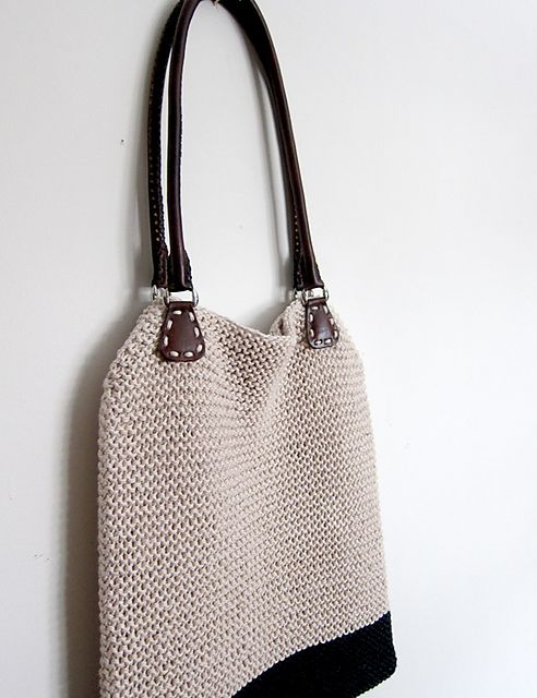 Simple Hemp Tote by Espace Tricot