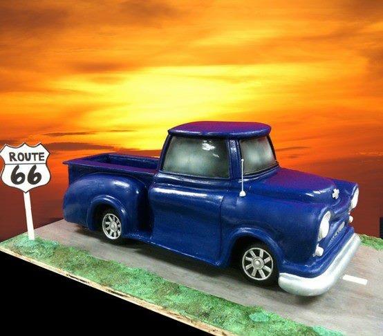RT 66 Chevy Pick Up Truck Cake