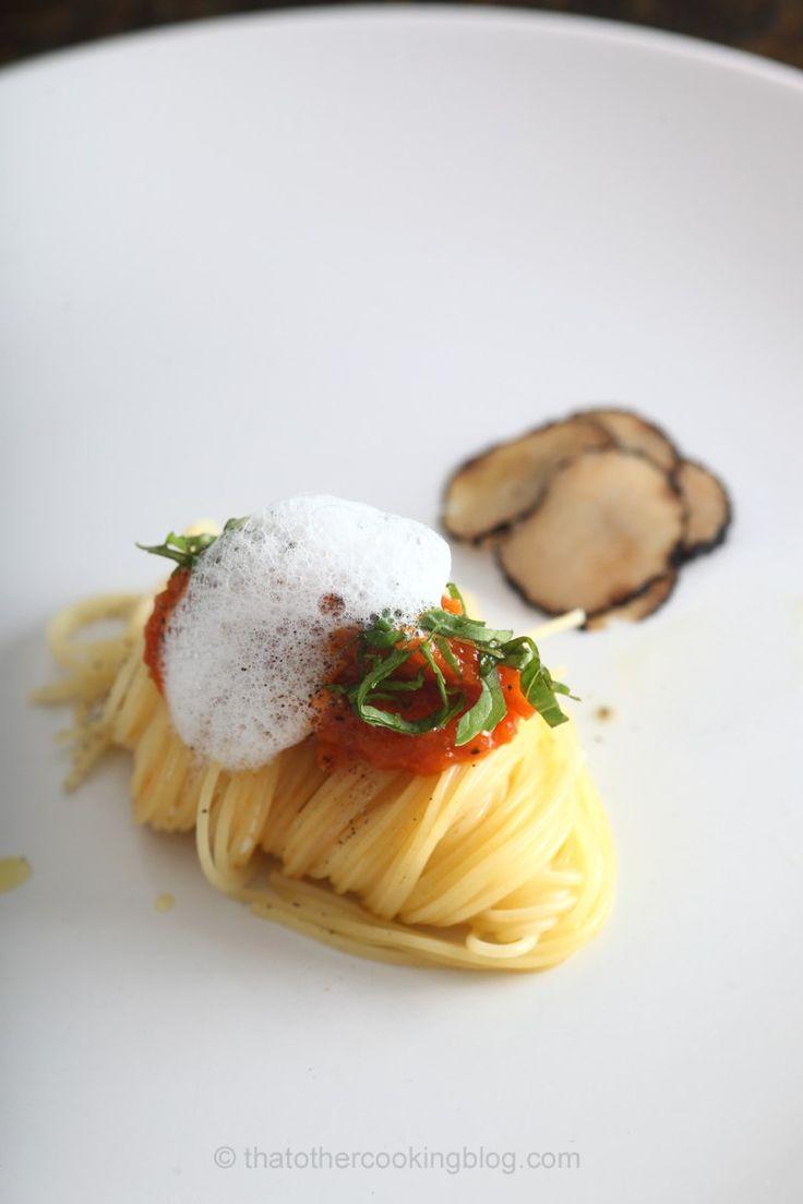 Lobster Bolognese : Capellini : Porcini Froth : Black Truffles