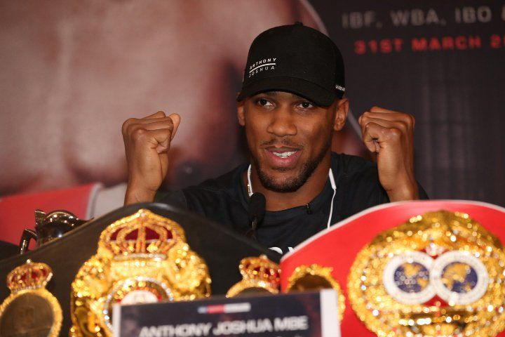 Video: Anthony Joshua Reacts To Steroid Comments From Parker #allthebelts #boxing