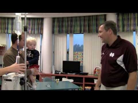 Mississippi State Football Team's Visit to Batson Children's Hospital Rallies Patients | http://newsocracy.tv
