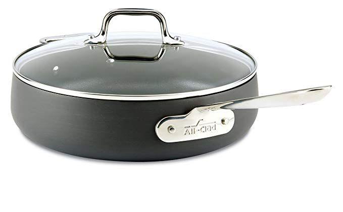 All Clad E7853364 Ha1 Hard Anodized Nonstick Dishwasher Safe Pfoa Free Saute Pan Cookware 4 Quart Black Revi Hard Anodized Cookware Saute Pan Dishwasher Safe