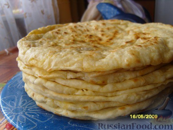 Рецепт: Хычины с сыром и картофелем на RussianFood.com