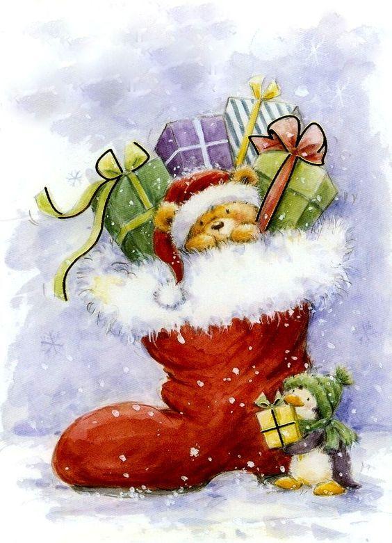 Современные новогодни открытки, картинки