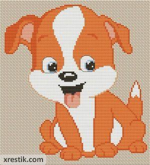 Пес №3 Животные Лентяйчики  Схема для вышивки scheme for cross stitch