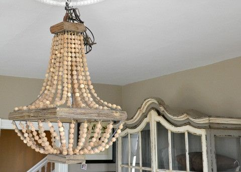 Image result for wood and beaded chandeliers