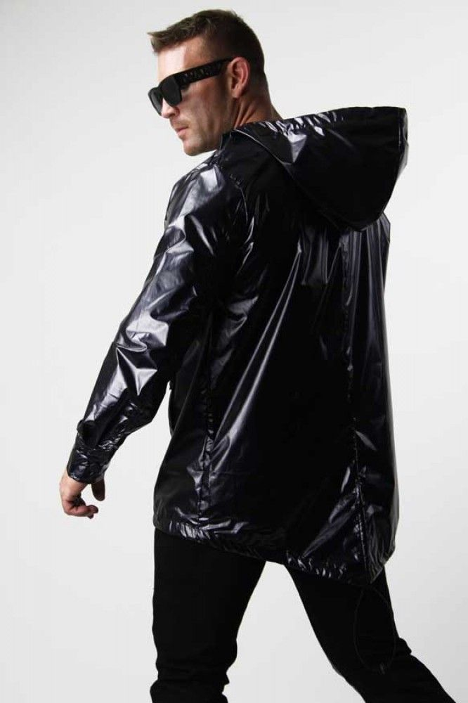 Menswear Online Shopping Black Raincoat Fashion Different