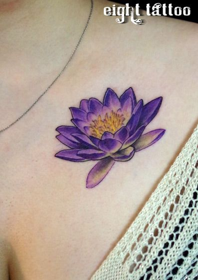 purple water lily tattoo - Google Search