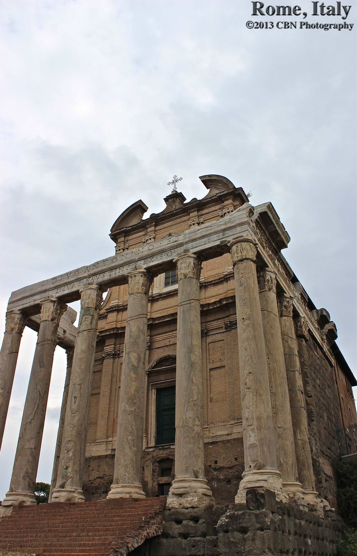 Temple of Antoninus and Faustina.The Temple of Antoninus and Faustina is an ancient Roman temple in Rome, adapted to the church of San Lorenzo in Miranda. It stands in the Forum Romanum, on the Via Sacra, opposite the Regia