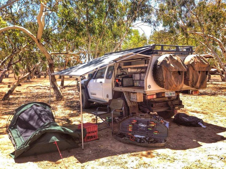 Swag And 4wd Set Up In The Australian Bush Http Www