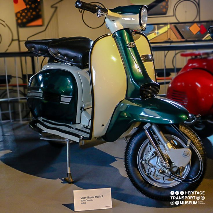 The Vijay Super Mark 2 was produced by Scooter India Ltd. after 1975 for the domestic market!  #vintagescooters #vintagecollection #heritagetransportmuseum #incredibleindia