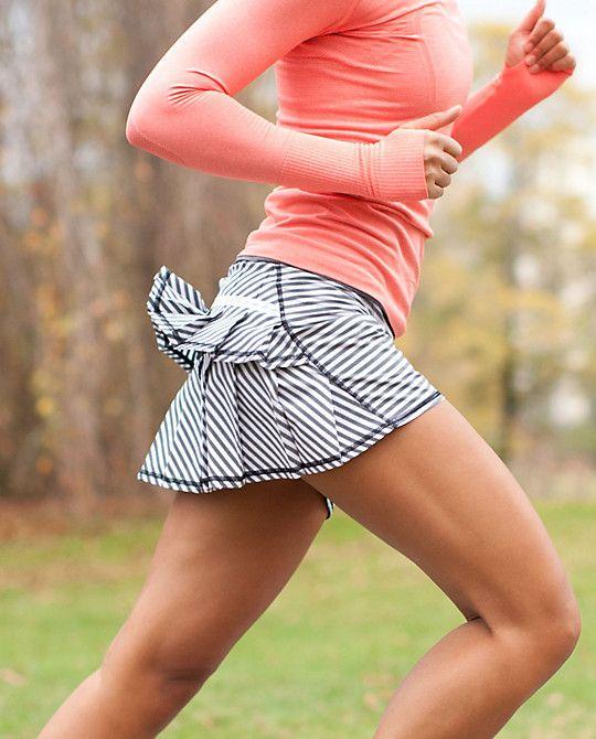 How cu-ute is this striped #running skirt from @Lululemon?! RUN:Pacesetter Skirt $58