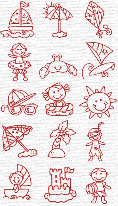 Kids' Redwork Set