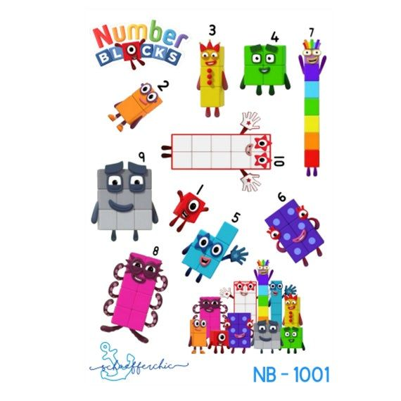 Numberblocks 1 10 Character Stickers 2 half sheets FREE ...
