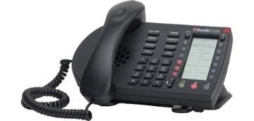 """ShoreTel IP Phone 212k  Available in black or silver plastic, the IP 212k is ideal for branch offices and small businesses that require """"key system"""" behavior from their phone system. The 12 line phone has two soft keys and twelve self-labeling programmable buttons that can be configured to meet the needs of the organization and its users."""