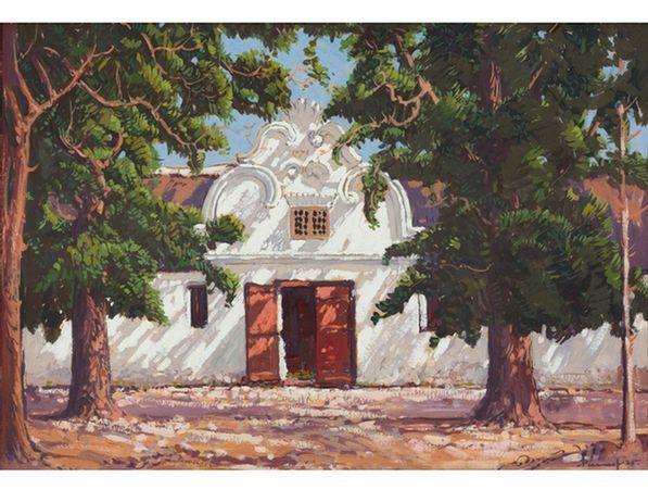 Jacob Hendrik Pierneef; Wynkelder by Du Toits Plaas, Krommerivier, Stellenbosch