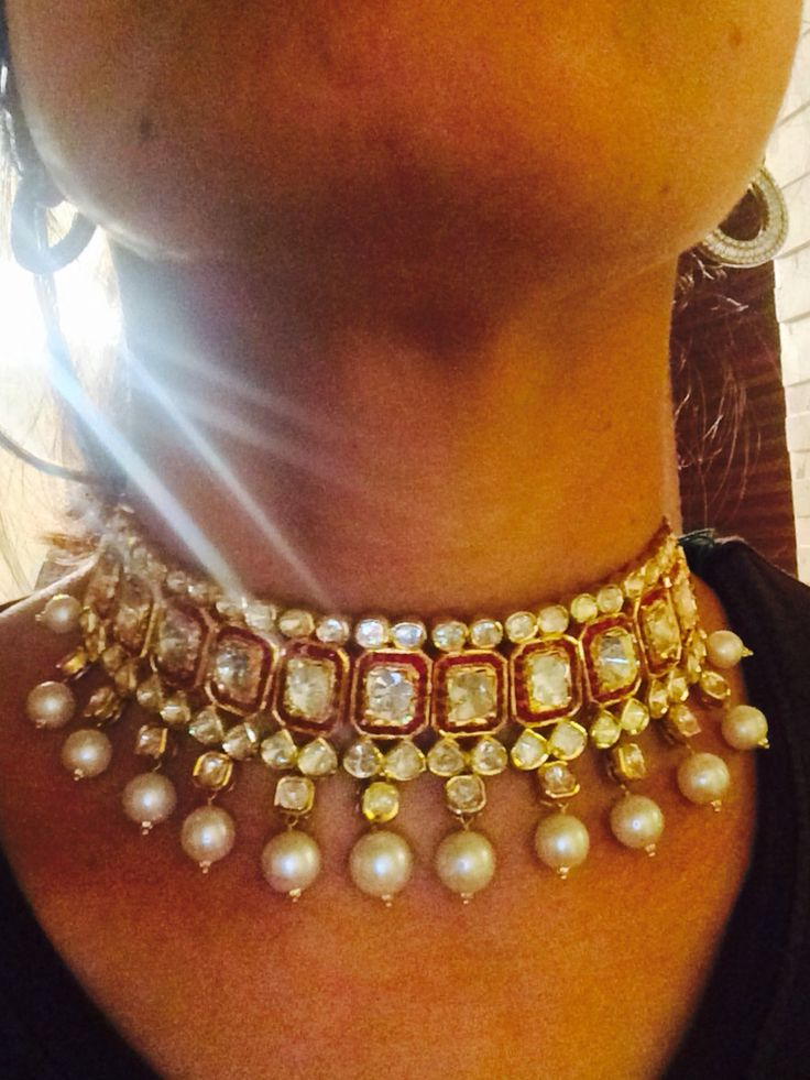 Polki choker.. Traditional is the best.