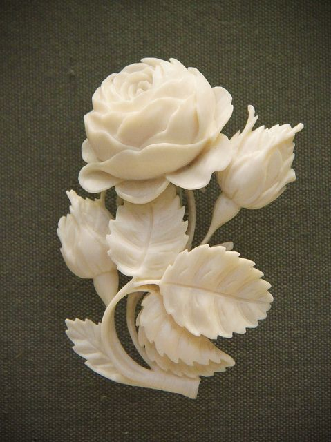 Carved ivory bouquets, German, Erbach-im-Odenwald, mid-19c   Flickr - Photo Sharing!
