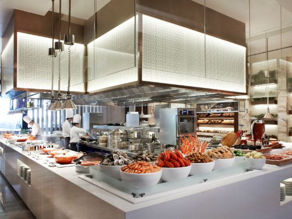 Food display buffet google search french market for Buffet cuisine en pin