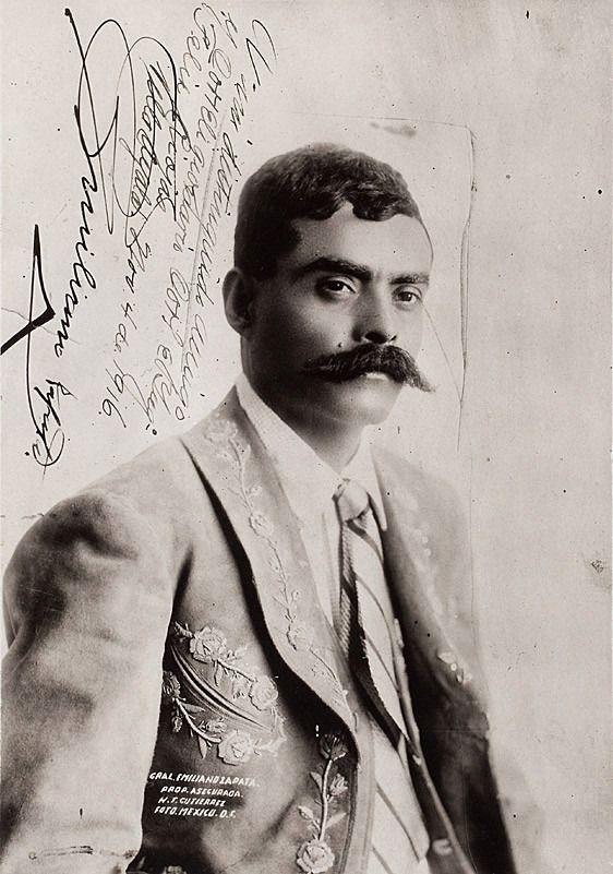 Emiliano Zapata en un retrato de Guillermo Kahlo conservado por Frida