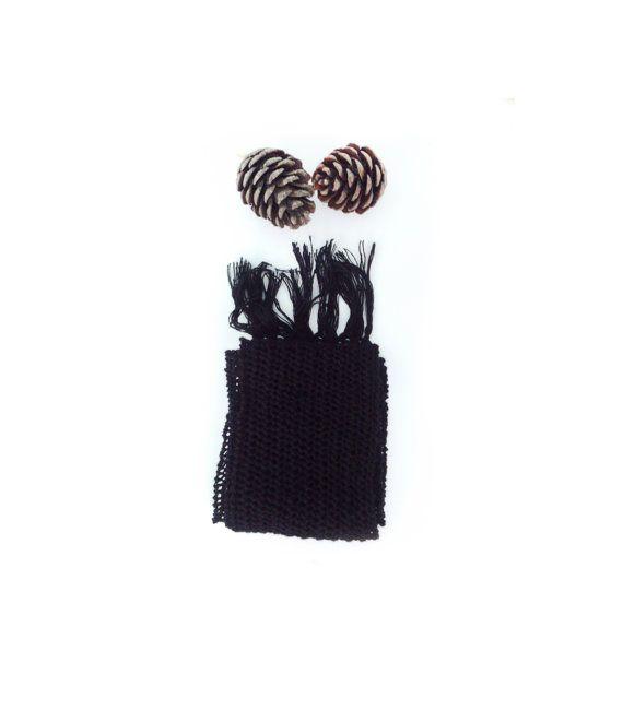 Hand knit black shawl  Lace knit shawl Knit shawl Knit by GuruMIme