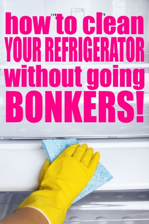 How to clean the refrigerator without going bonkers! Ridiculously simple tips to make cleaning out your refrigerator on a weekly basis quick and easy!   Cleaning   Cleaning Tips   Natural Cleaning   Refrigerator   Cleaning Refrigerator   Cleaning Kitchen   Kitchen Cleaning tips and tricks