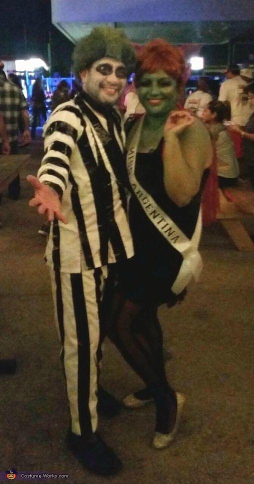 Beetlejuice and Miss Argentina Costume - Halloween Costume Contest via @costume_works
