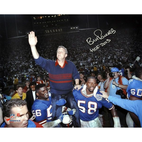 "Bill Parcells New York Giants Fanatics Authentic Autographed 16"" x 20"" SB Carry Off Photograph with HOF 2013 Inscription - $194.99"