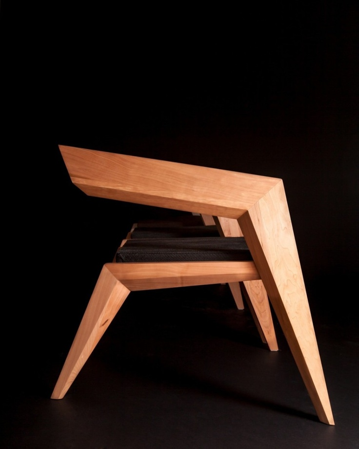 Furniture, Furniture Wooden Chairs Seat Design Lacquer Teak Wood Untreated Right Angle Chairs Art: Marvellous Celebrating Avant-Garde Minimalism: 2R Armchair by Sien Studio