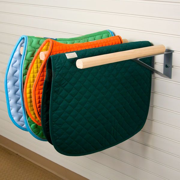 After a hard day riding dry out your blanket or pad on a blanket holder.