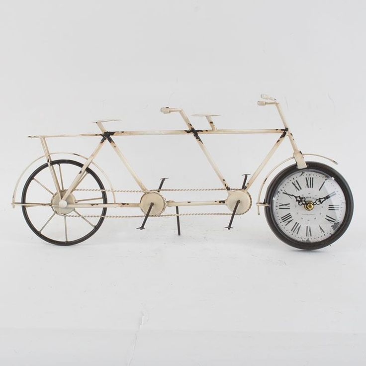 Amazing metal bicycle retro clock, antique style #rustic #vintage www.inart.com
