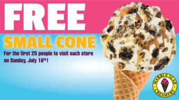 FREE Cone at Marble Slab Creamery on http://www.canadafreebies.ca/