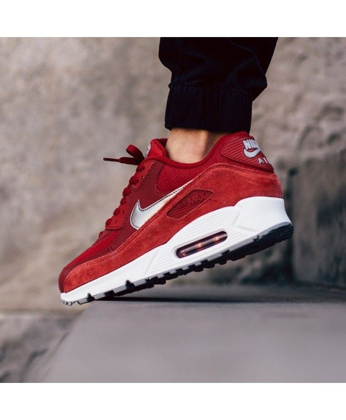 acf4ae50608 Cheap Nike Air Max 90 Essential Red Trainers Trainers